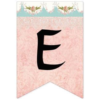 Bannière À Fanions Décor mignon de partie de nom de bébé de fille de