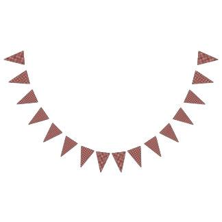 Bannière À Fanions Guingan de rouge d'anniversaire de pique-nique