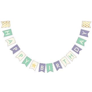 Bannière À Fanions L'or de Faux de typographie de joyeux anniversaire