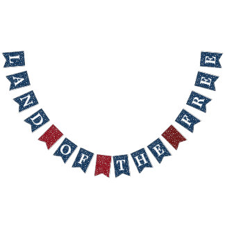 Bannière À Fanions Terre des étoiles libres patriotiques