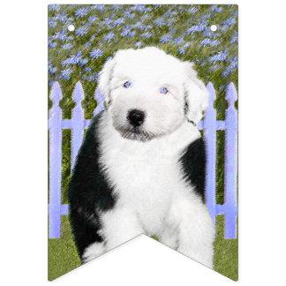 Bannière À Fanions Vieux chien de berger anglais