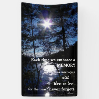 Bannière commémorative avec la belle citation