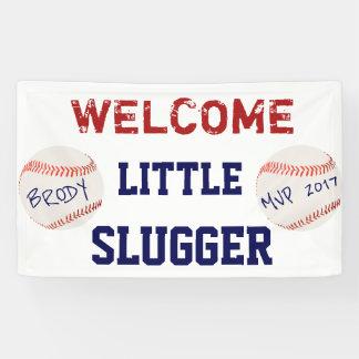 Bannière d'accueil de baby shower de base-ball