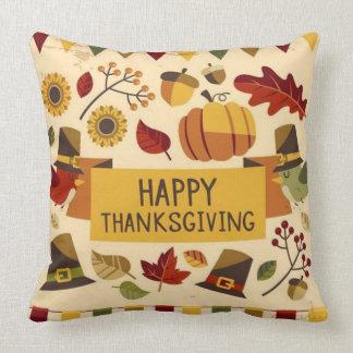 Bannière de bon thanksgiving coussin