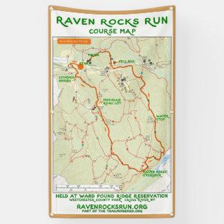 Bannière de carte de course de roches de Raven