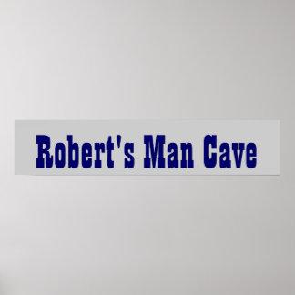 Bannière de caverne de l'homme du cowboy posters