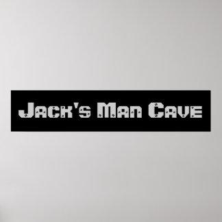 Bannière de caverne d'homme posters