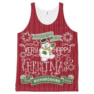 Bannière de coutume de typographie de Noël heureux