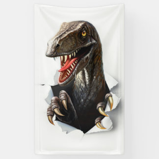 Bannière de dinosaure de Velociraptor