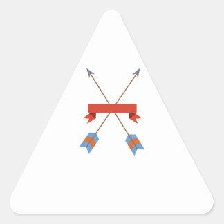 Bannière de flèches sticker triangulaire