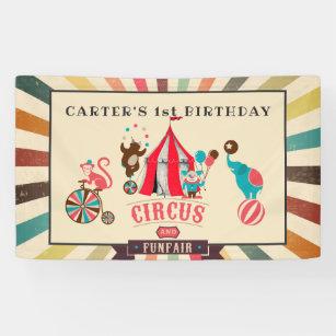 Bannière de partie personnalisée par cirque
