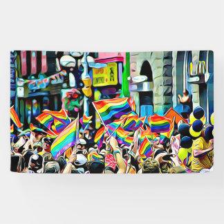 bannière de rassemblement de défilé de drapeaux
