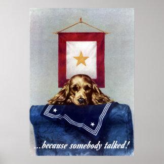 Bannière d'étoile d'or -- Puisque quelqu'un a parl Posters