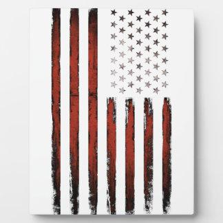 Bannière étoilée américaine vintage plaque photo