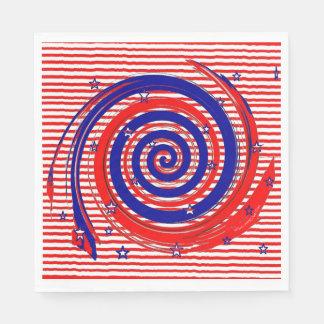 Bannière étoilée blanche et bleue rouge serviette en papier