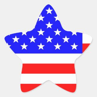 Bannière étoilée bouleversée sticker étoile