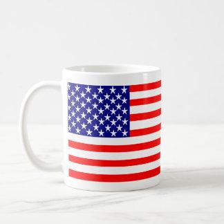 Bannière étoilée de drapeau américain des mug