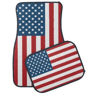Bannière étoilée de drapeau américain des tapis de voiture