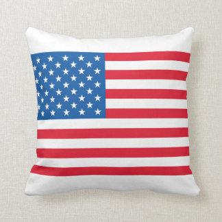 Bannière étoilée de drapeau des Etats-Unis Coussins Carrés
