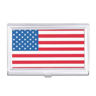 Bannière étoilée de drapeau des Etats-Unis Étui Pour Cartes De Visite