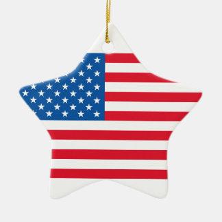 Bannière étoilée de drapeau des Etats-Unis Ornement Étoile En Céramique