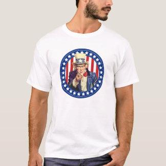 Bannière étoilée d'Oncle Sam T-shirt