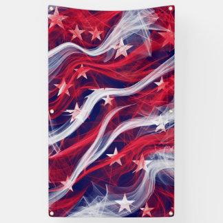Bannière extérieure américaine avec des canons