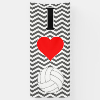 Bannière géante aime (coeur) volleyball de