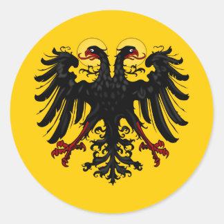 Bannière impériale de Saint Empire Romain Sticker Rond
