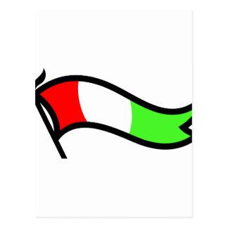 Bannière italienne de drapeau cartes postales