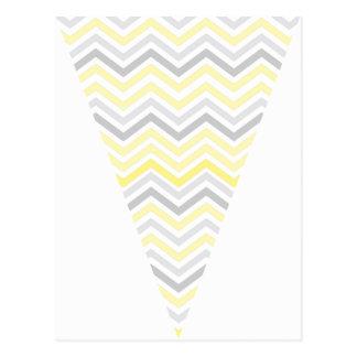 Bannière jaune et grise d'étamine de drapeau de carte postale