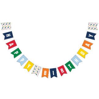 Bannière nautique de joyeux anniversaire de thème