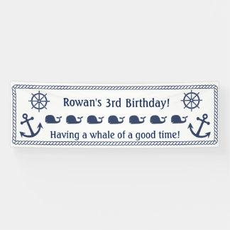 Bannière orientée nautique d'anniversaire