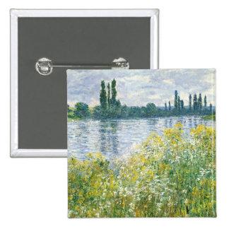 Banques de Claude Monet | de la Seine, Vetheuil, Pin's