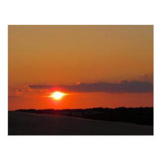 Banques externes de coucher du soleil carte postale