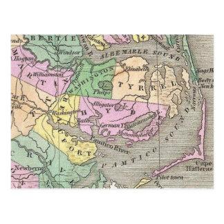 Banques externes et carte orientale de la Caroline Carte Postale