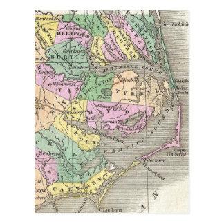 Banques externes et carte orientale de la Caroline Cartes Postales