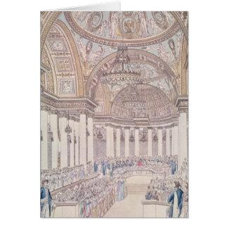 Banquet impérial dans le salon grand carte de vœux