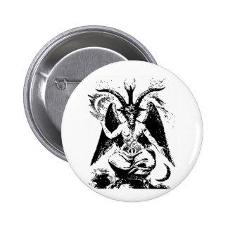 Baphomet noir vintage badge rond 5 cm