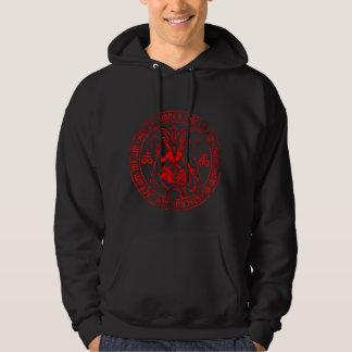 Baphomet satanique veste à capuche