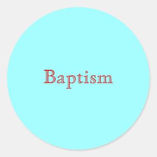 Baptême Sticker Rond