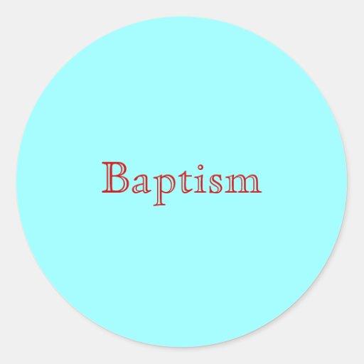 Baptême Adhésif Rond