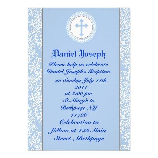 Baptême/baptême de garçons cartons d'invitation