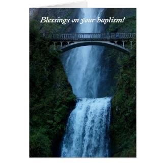 baptême, bénédictions, félicitations, exemple carte de vœux