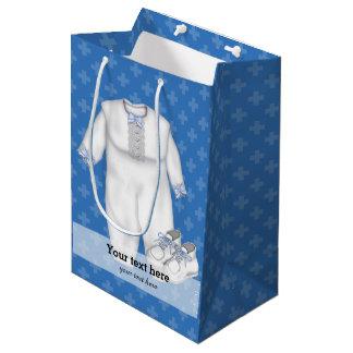 Baptême * choisissez la couleur d'arrière - plan sac cadeau moyen