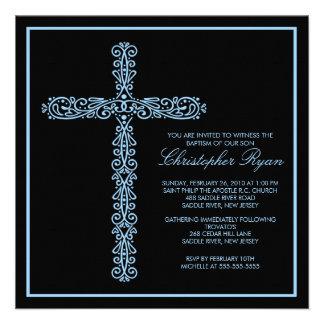 Baptême croisé Inviation de garçon de baptême de b Invitations Personnalisées