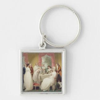 Baptême de l'héritier, (huile sur la toile) Se c.1 Porte-clé Carré Argenté