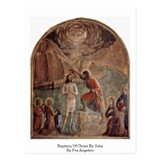 Baptême du Christ par John par ATF Angelico Cartes Postales