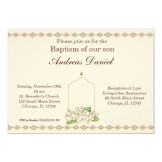 Baptême Carton D'invitation 12,7 Cm X 17,78 Cm