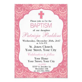 Baptême, invitation de baptême pour des filles